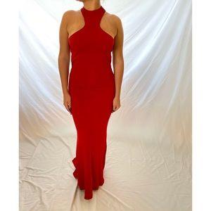 Jovani Jersey Dress Red